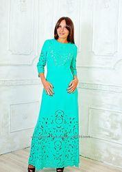Бирюзовое платье в наличии