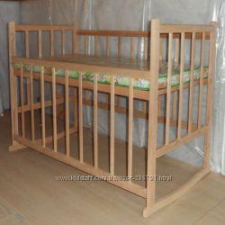 Детская новая кроватка без лака