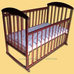 Детская кроватка Наталка, новая, ольха тонированная