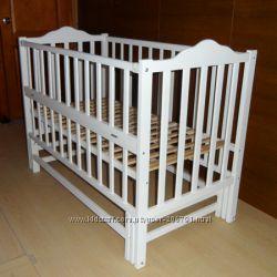 Детская кроватка Карпаты Люкс бук, шарниры