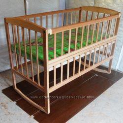 Детская буковая кроватка-качалка Гойдалка - 2