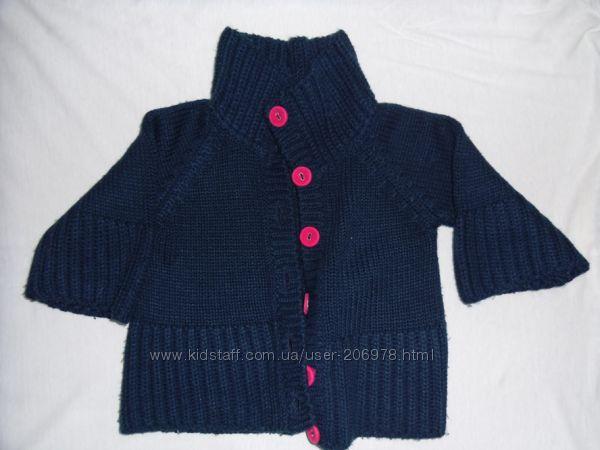 Классная синяя кофтюля для модницы