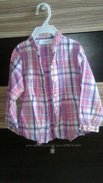 Крутая клетчатая рубашечка для девочки