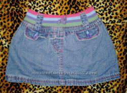 Классненькая джинсовая юбочка George на 2-3 года