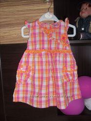 Летнее платье для куколки 12-18 мес