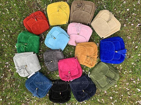 Замшевая кросс-боди Lanira, Италия, цвета в ассортименте