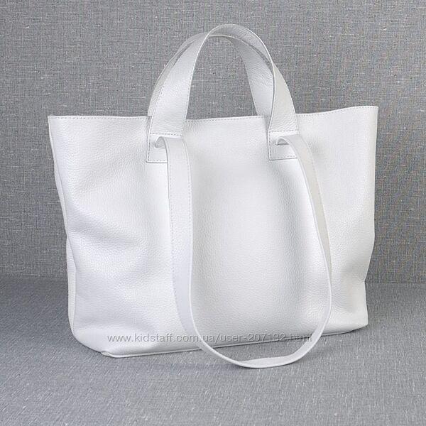 Кожаная вместительная сумка-трансформер, цвета в ассортименте