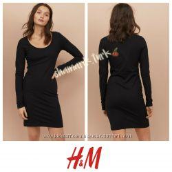 Базовое трикотажное платье хлопок  от h&m