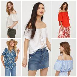 Блузы топы 9 моделей от h&m