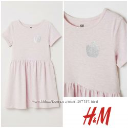 Трикотажное платье 134-140см от h&m