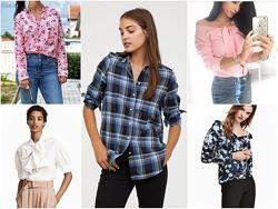 Рубашки хлопок 9 моделей  от h&m