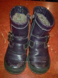 Ботиночки зимние детские Unichel  натур. кожа и мех-овчина.