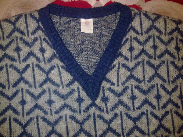 Пуловер мужской шерстяной тёплый.
