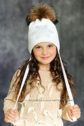 Зимние шапки меринос с натуральным мехом a393c6d13b605