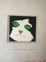 Картина Кот на холсте