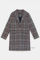 Пальто Zara в клетку размер М мой пролет