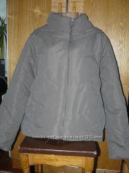 Серая деми дутая  куртка 50-52 р.