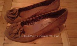 Туфлі замшеві бежеві