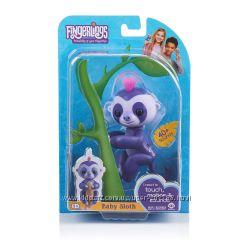 Интерактивный ленивец фиолетовый Fingerlings WowWee Baby Sloth Marge Purple