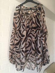 Блуза двойка Marks & Spencer Portfolio шёлк  размер 24UK наш 54-56