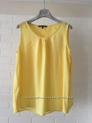 Красивая блуза Laura Ashley размер 14uk наш 46-48. Цвет- ярко жёлтый ярче,