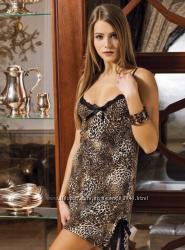 Хлопковая леопардовая сорочка Shirly 4601