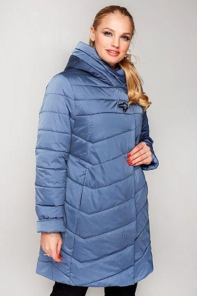 Новая модель стеганой весенней утепленной куртки в больших размерах