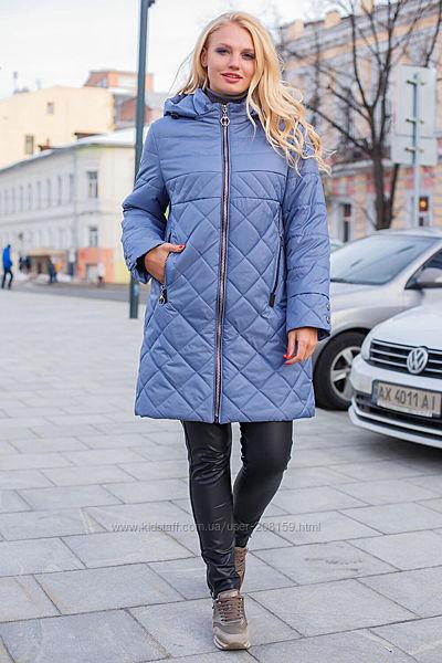 Удлиненная демисезонная куртка-плащ с капюшоном, в больших размерах