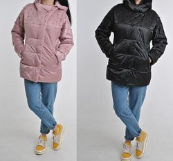 Легкая весенняя куртка с жемчужной отделкой, разные цвета размеры в наличии