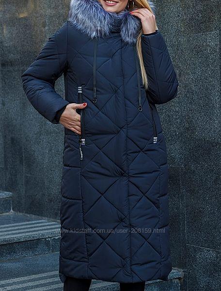Зимние стеганые куртки с чернобуркой, большие размеры