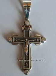 Серебряный крест. 55&times29 мм
