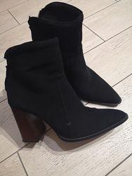 Ботинки Zara, натуральная замша 37р