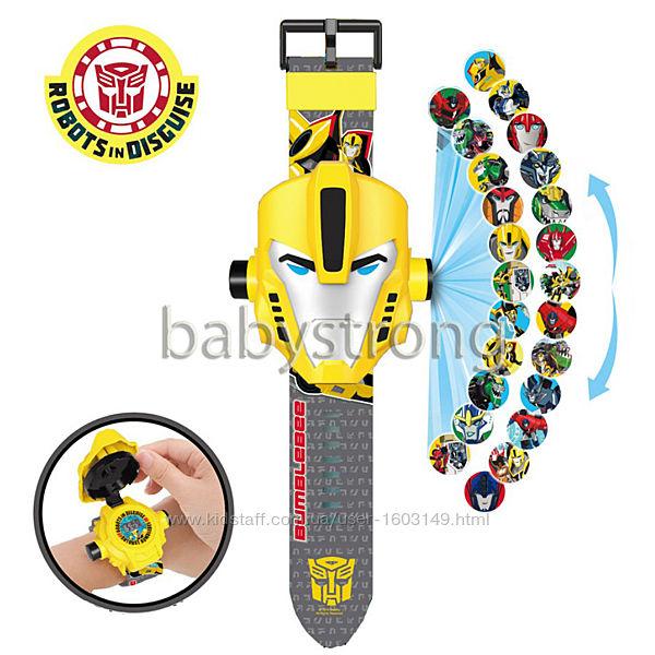 Проекционные детские часы Трансформер Бамблби - 24 вида изображения героев