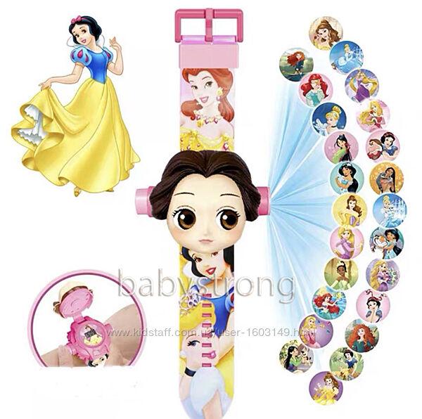Проекционные детские часы Принцессы - Princess - 24 вида изображения героев