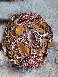 Стильный шарф снуд / нашейный платок / шарф горловик