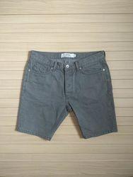 шорты джинсовые на болтах topman skinny short / размер 32W-32L