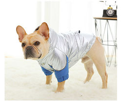 Куртка парка одежда для собак французского бульдога мопса комбинезон