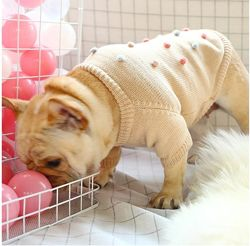 Свитер одежда для собак французский бульдог мопс реглан джемпер комбинезон