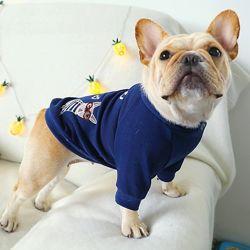 Реглан одежда для собак французский бульдог мопс толстовка худи комбинезон