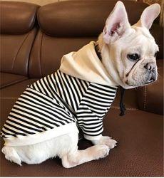 Реглан толстовка худи одежда для собак французского бульдога комбинезон