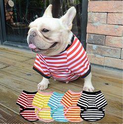 Футболка одежда для собак французского бульдога мопса майка комбинезон