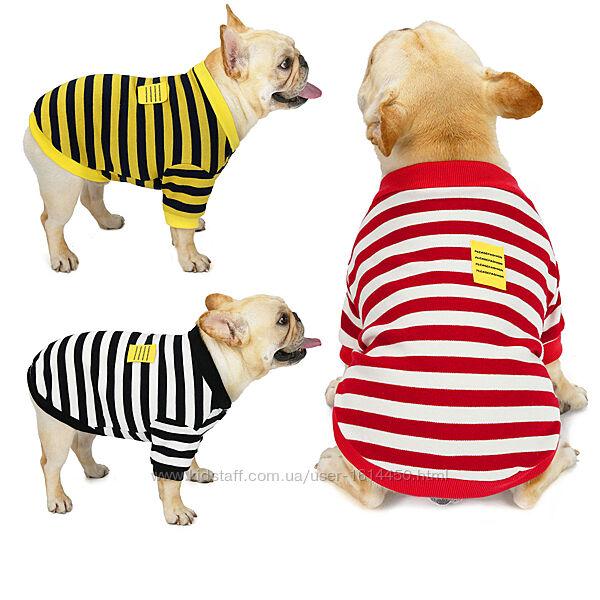 Толстовка для собак одежда комбинезон футболка для французского бульдога