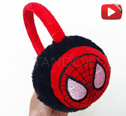 Наушники теплые детские с Человеком-пауком Спайдерменом Видео