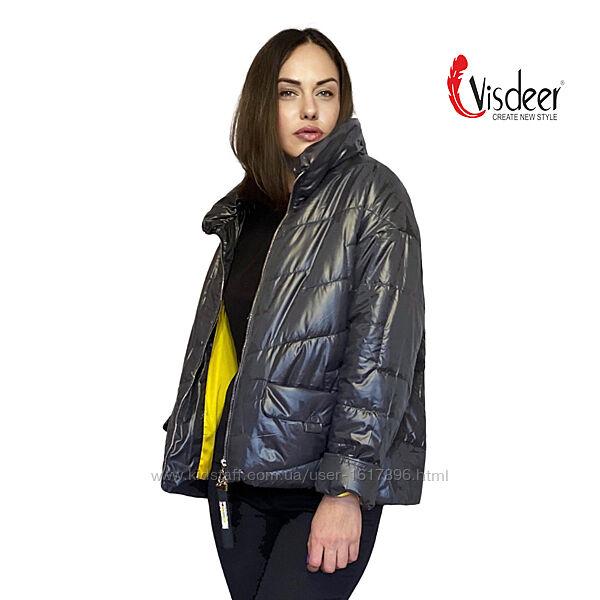 Демисезонная Утепленная Стеганая Куртка Оригинал Visdeer Размеры 48-56