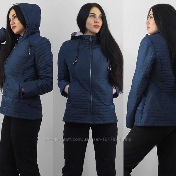 Куртка Батал Женская Фабричная с капюшоном размер 56 Qarlevar китай