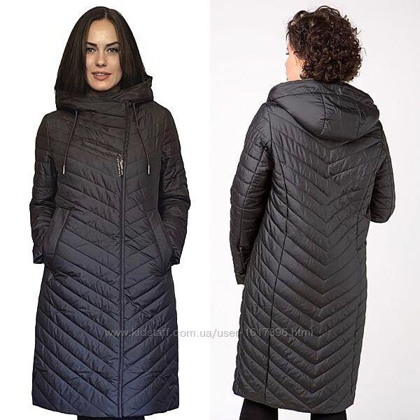 Демисезонная Удлиненная Женская Куртка Плащ Р.48-58 Фабричный Китай