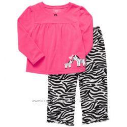 Распродажа флисовая пижама Carters для девочки р. 2т наличие