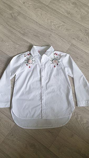 Рубашка с вышивкой на 6-8 лет