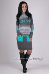 ТМ Guash ua  - недорогие теплые вязаные платья