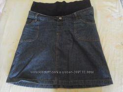 Джинсовая юбка для беременных рМ идеальное состояние